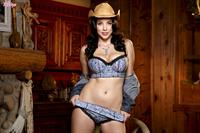 Jelena Jensen in denim cowgirl outfit