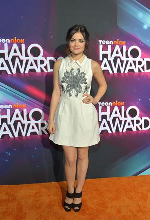Lucy Hale TeenNick HALO awards in Hollywood 11/17/12