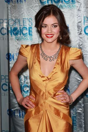 Lucy Hale At The 2011 People's Choice Awards In LA