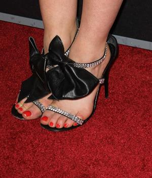 Lucy Hale at the Scream 4 Premiere at Graumans Chinese Theatre in Hollywood April 11, 2011 - close up of her feet