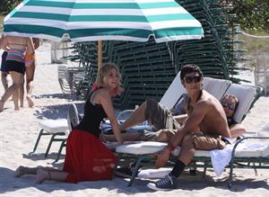 Lucy Hale and Ashley Benson photoshoot at the Bondo Bikini Shack on Miami Beach on March 24, 2012