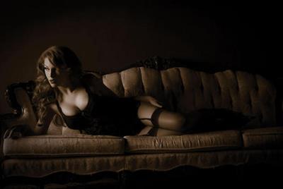 April Macie in lingerie