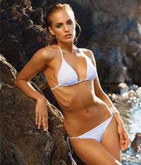 Ester Evans in a bikini