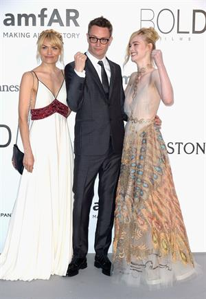 Elle Fanning showing off pasties at amfAR's 23rd Cinema Against AIDS Gala