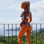 Amanda Bennett in a bikini - ass