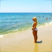 Anna Nyström in a bikini