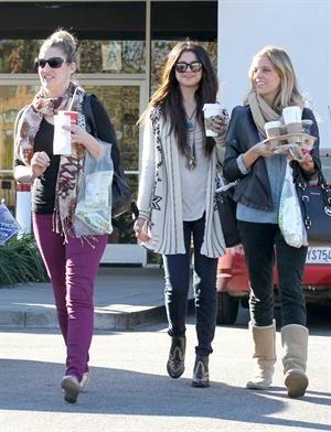 Selena Gomez in Burbank January 16, 2013