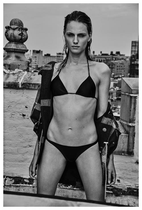 Andreja Pejić in a bikini