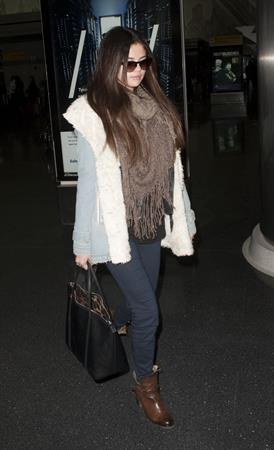 Selena Gomez At JFK airport in New York 18th January 2013