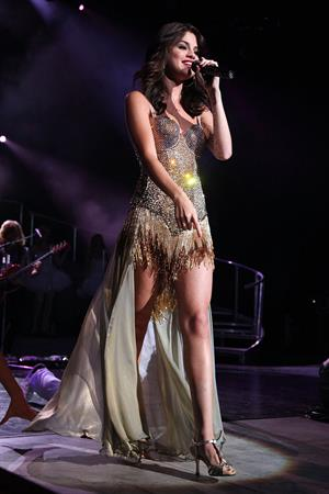 Selena Gomez performing at Bethel Woods Art Center in New York August 05, 2011
