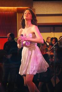 Selena Gomez on the Good Morning America show in New York City, February 11, 2010