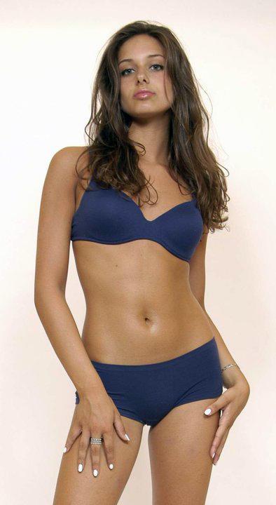 Clizia Fornasier in lingerie