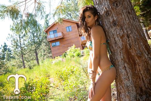 Vanessa Hanson in a bikini