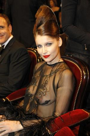 Laetitia Casta in lingerie - breasts