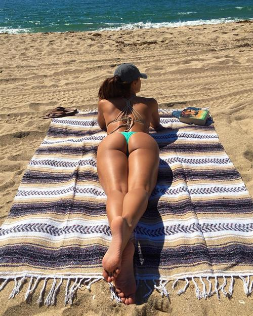 Ana Cheri in a bikini - ass