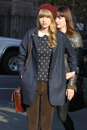 Taylor Swift leaving her hotel in New York City April 12, 2012