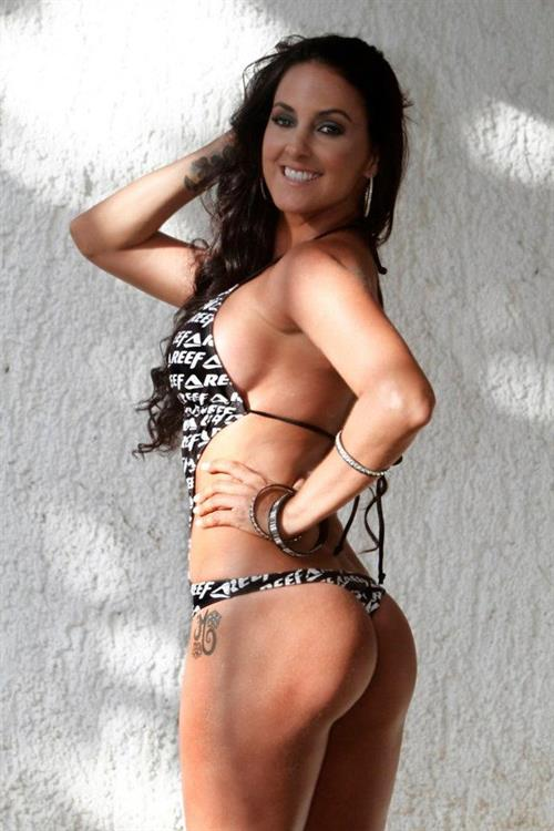Marine Simoneau in a bikini - ass