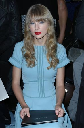 Taylor Swift at Elie Saab Spring Summer 2012/13 fashion show in Paris 10/3/12