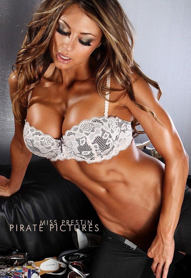 Laura Michelle Prestin in lingerie