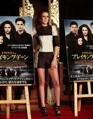 Kristen Stewart The Twilight Saga: Breaking Dawn Part 2 photocall in Tokyo on October 24, 2012