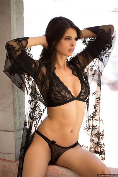 Jasmine Andreas in lingerie