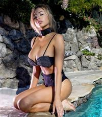 Francesca Larrain in a bikini