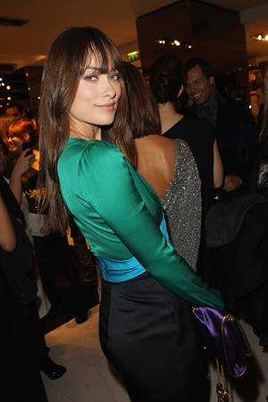 Olivia Wilde Gucci dinner at the Italian Embassy in Paris January 25, 2011