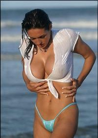 Kellie Maines in a bikini - breasts