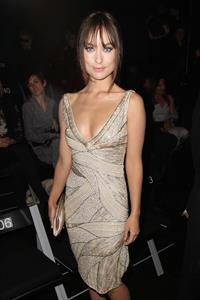 Olivia Wilde Giorgio Armani fashion show during Paris fashion week January 24, 2011