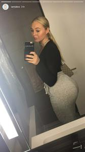 Iskra Lawrence taking a selfie and - ass