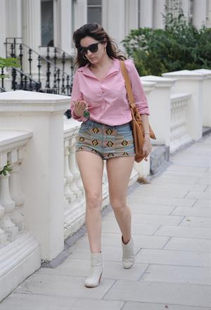 Kelly Brook walking in London, June 28, 2012