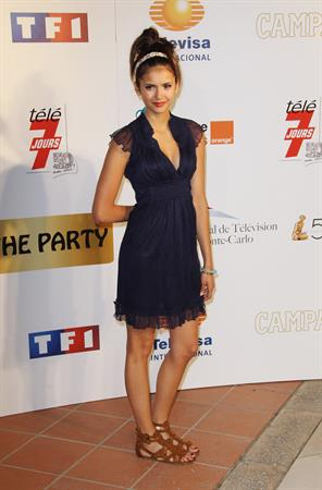 Nina Dobrev 50th anniversary of the Monte Carlo TV festival on June 9, 2010