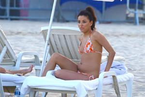 Eva Longoria bikini candids on the beach in Rio 3/10/13