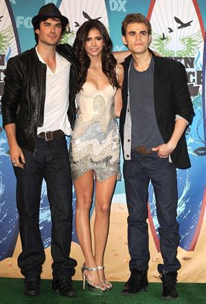 Nina Dobrev 2010 Teen Choice awards at Gibson Amphitheatre on August 8