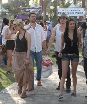 Nina Dobrev Coachella Valley Music Arts Festival day 3, April 17, 2011