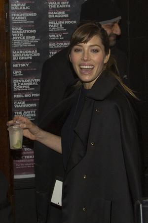 Jessica Biel arrives at the 2013 BRIT Awards After Party at The Arts Club in London on February 20, 2013