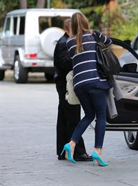 Jessica Biel At the Four Season Hotel in Beverly Hills, Feb 15, 2013
