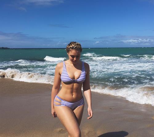 Iskra Lawrence in a bikini