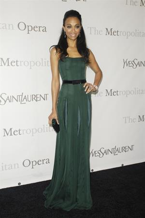 Zoe Saldana Metropolitan Opera 125th Anniversary Gala at Lincoln Center in NYC March 15th, 2009