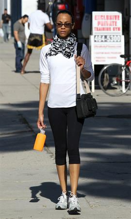 Zoe Saldana out in Beverly Hills, Los Angeles January 3-2012