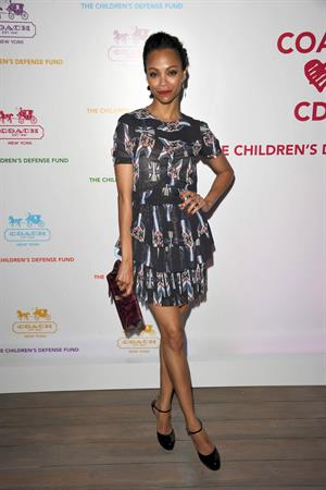 Zoe Saldana Coach Hosts An Evening of Cocktails and Shopping in Santa Monica April 20, 2011