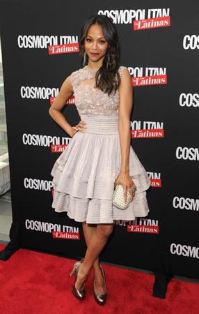 Zoe Saldana attends the Cosmopolitan For Latina's Premiere Issue Party May 9-2012
