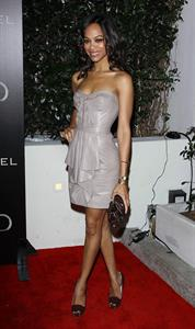 Zoe Saldana Audi And J Mendel Celebrate The 2011 Golden Globe Awards in LA January 9, 2011