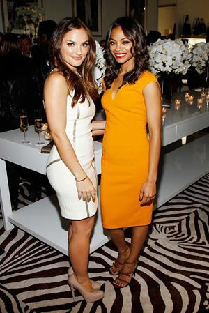 Zoe Saldana Michael Kors Lifestyle Store Opening in Los Angeles November 16, 2011