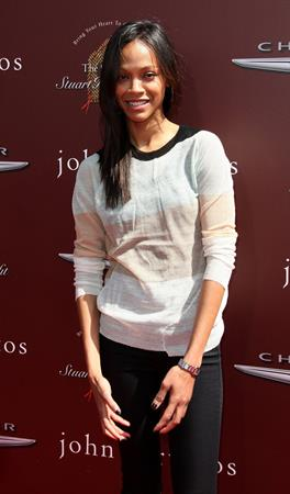 Zoe Saldana - John Varvatos 9th Annual Stuart House Benefit in Los Angeles March 11 2012.