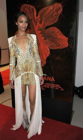 Zoe Saldana at the Screening of  Columbiana  in Miami - August 22, 2011