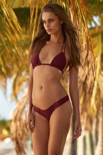 Annie Gustafsson in a bikini