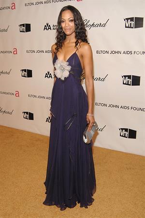 Zoe Saldana - 16th Annual Elton John AIDS Foundation Oscar Party 2008