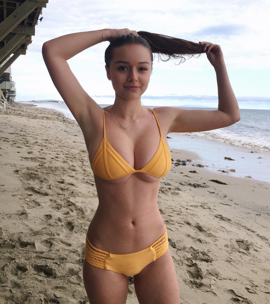 Sophie Mudd in a bikini