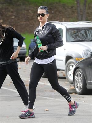 Katy Perry goes for a hike in Los Angeles 1/6/13